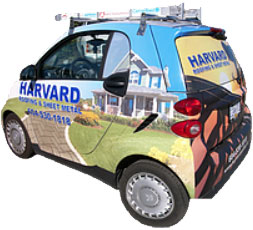 harvard roofing car